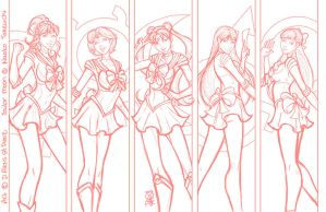 Sailor Moon print sketch by DStPierre