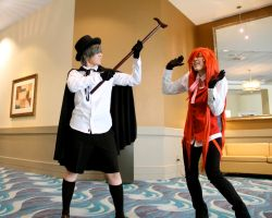STAY AWAY FROM MY BUTLER ~ Ciel and Grell by OurLivingLegacy
