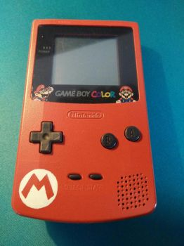 GameBoy Color - Mario - Front by J-Joker