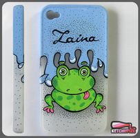 Froggy Iphone case by Ketchupize