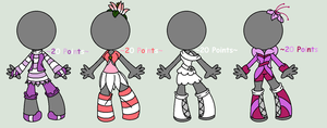 .::Flower Clothing Adopts::..:: 4/4 CLOSED::. by abbyfirecat