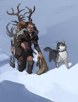 Commision: Nord hunter by Shagan-fury