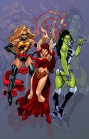 Marvel Girls by MikeBowden by carol-colors