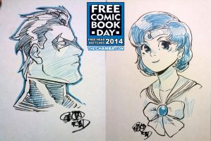 FCBD 2014 Sketches 33 - 34 by theCHAMBA