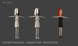Adventureless - Low poly female character by NetGhost03