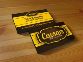 Ceasars Business Card by XtrDesign