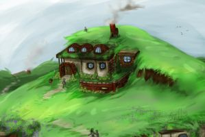 Village in the Hills by Sathiest-Emperor