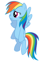 Rainbow Dash Vector - :( by Anxet