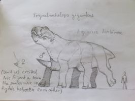 alien giant herbivore - update by palaeorigamipete
