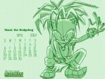 Manic the Hedgehog Calendar 2014 by Hedgey