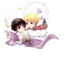 ukjp_chibi_two little princes by noDuckiEallow