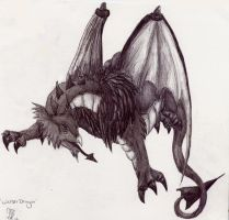 The Welsh Dragon by Davuu