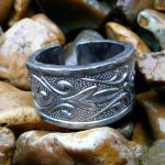 Floral Stainless Ring by Wabbit-t3h