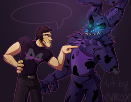 Sassing back at the nightmare bully by xNIR0x