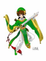 Li Syaoran from Cardcaptor Sakura (iPad Drawing) by michi-kobayashi