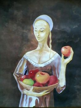 Woman with apples by spaceexplorer
