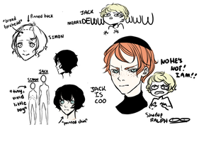 lord of the flies doodles by V1ET