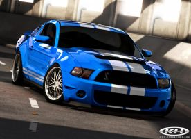 GT500 blue - Cars by Kris by lovelife81