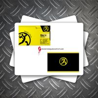 business card - golds gym by bilalstunning