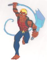 Aqualad - Young Justice paper cutout by say-andy