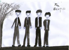 The Beatles Gijinka by AbstractWater