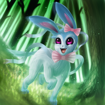 Sylveon (commission) by TheGentlemanCupcake