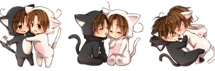 South Italy/Romano and North Italy Chibi Render by VanishedLullabys