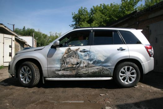 wolves on suzuki grand vitara 6 by hotabych