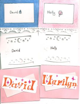 Place cards by lovelyverdigris