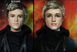 Hunger Games Josh Hutcherson Peeta Mellark doll by noeling