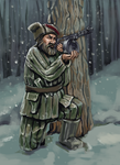 Belarussian partisan by Alcomedved