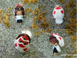 princess mononoke string doll by Em-Ar-Ae