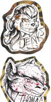Pair o' Spatter Badges (Jenks/Candorian) by dragonmelde