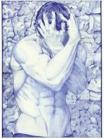 Ballpoint pen man by Angeliqueperrin