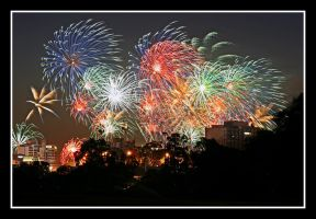 Perth Australia Day Fireworks by RaynePhotography