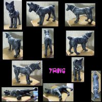 Yang wolf sculpture commission by TheTyro