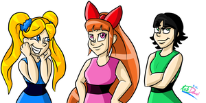 Power Puff Girls! by InvaderSonicMx