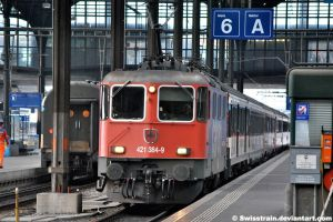 SBB Cargo Re 421 384-9 by SwissTrain