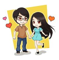 JC and Jeng by zienta