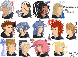Organization XIII -Rulez- by BlazingGanondorf