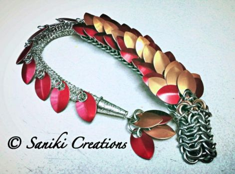 Fred the Chainmaille Dragon by sanikicreations