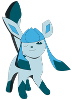 My first vector of Glaceon. by Flutterflyraptor