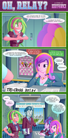 EQG Comic: OH, RELAY? by BerryPAWNCH