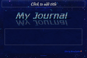Blue Journal Skin by MoonZaphire