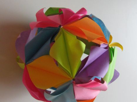 kusudama 'firefly' by meangreen101