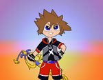 Sora (requested by kingdomheartsloves) by Meowstic-45