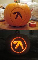Aphex Twin Logo Pumpkin by mjponso