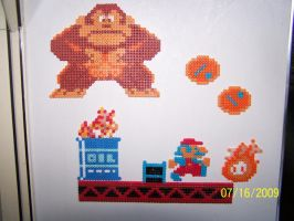 Donkey Kong Magnets by Cristiaso