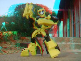 TFA Bumblebee in 3D II by LittleBigDave