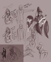 Bayonetta sketches by pandatails